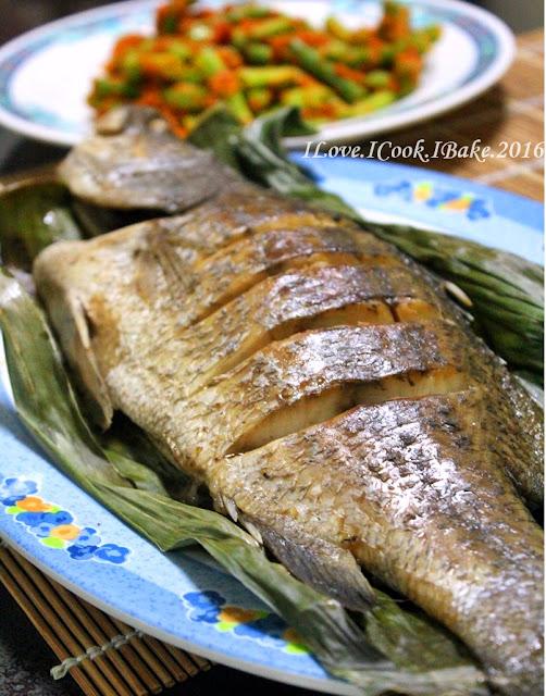 Baked Fish In Banana Leaves Sambal Long Beans Recipes