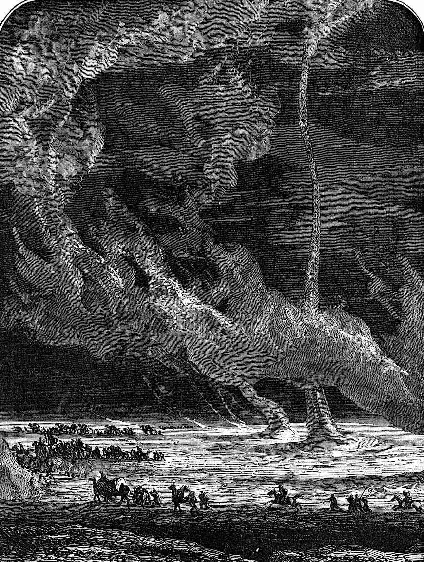 desert twisters illustrated in a Camille Flammarion book
