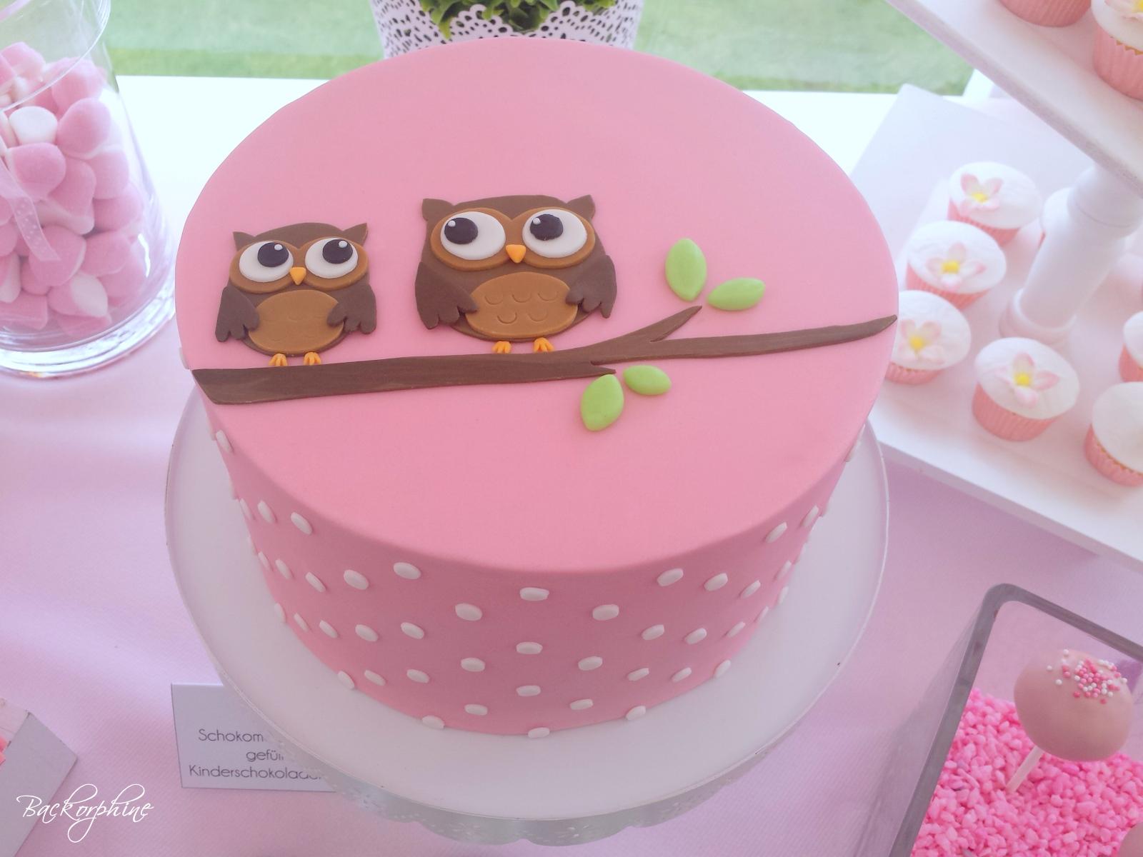 Backorphine Eulenkuchen Owl Cake Tutorial