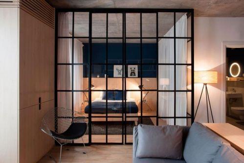 Chung cư 50m2 được thiết kế hoàn hảo nhờ rèm cửa