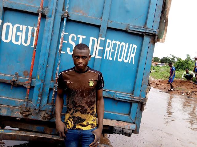 Guinée : Kindia, la déviation de Linsan coupée, un véritable calcaire pour les usagers de la route nationale numéro 1