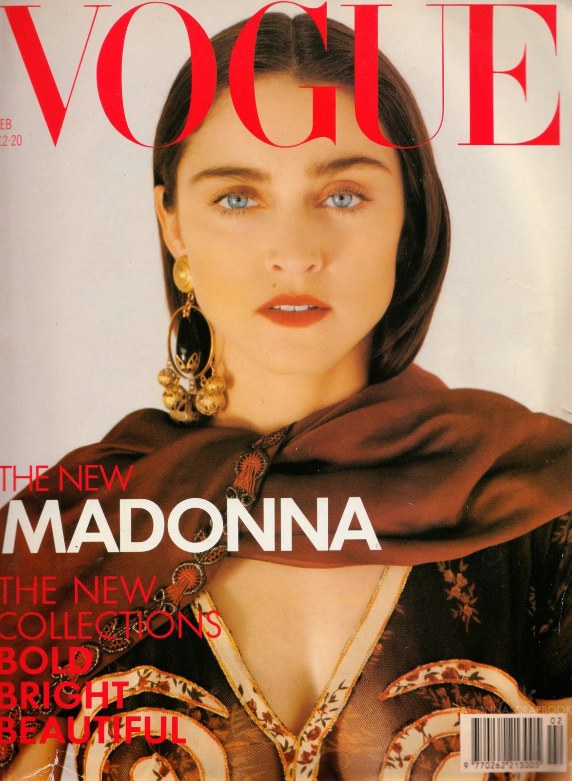 vogue madonna 1989 british february pud magazine covers whacker years