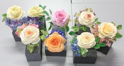 Rosen Hydrangia Hortensien aus Wafer Paper