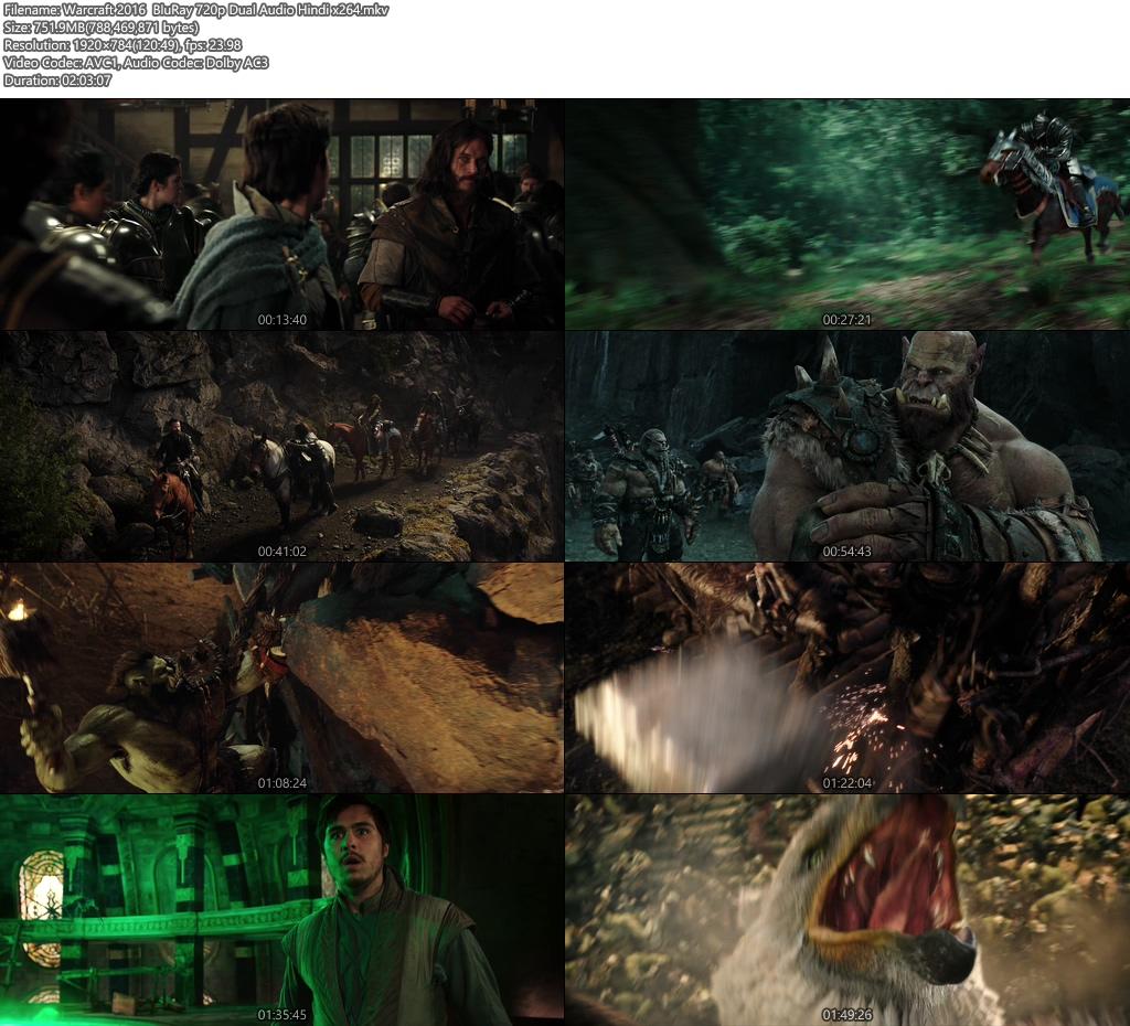 Warcraft 2016 BluRay 720p Dual Audio Hindi | 480p 300MB | 100MB HEVC x264 Screenshot