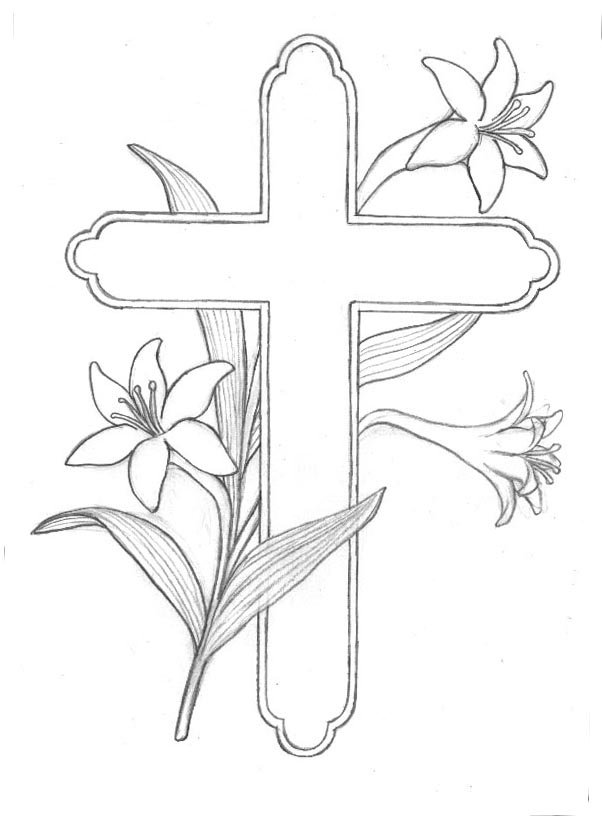 cross coloring pages for free - photo#19