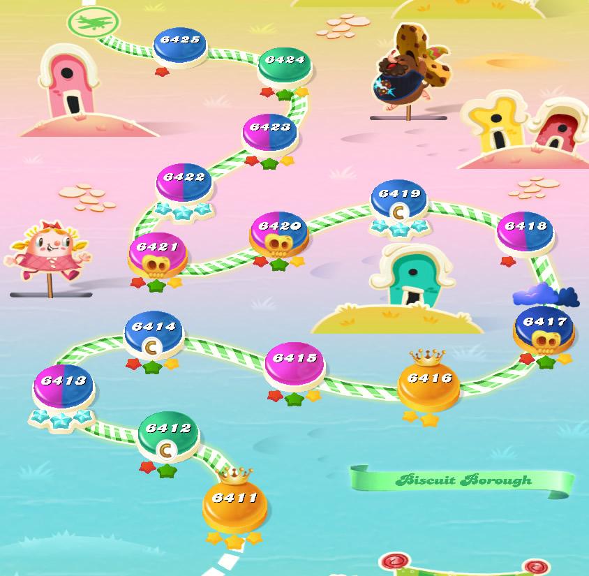 Candy Crush Saga level 6411-6425