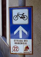 Segnaletica percorso cicloturistico Strada dei Rorenghi