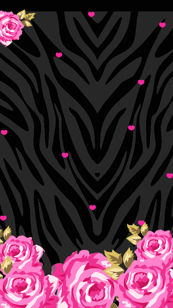 Love pink pink black wallpaper freebie - Pink zebra wallpaper for iphone ...