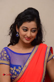 Actress Tejaswini Pictures in Saree at Pratikshanam Audio Launch  0003.JPG