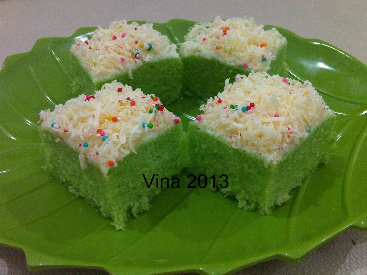 Resep Cake Kukus Simple: Dapoer Vina : Brownies Kukus Pandan