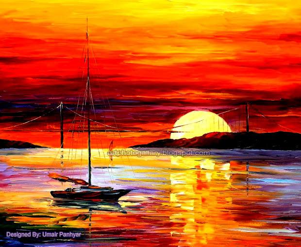 Sunset Painting - Art