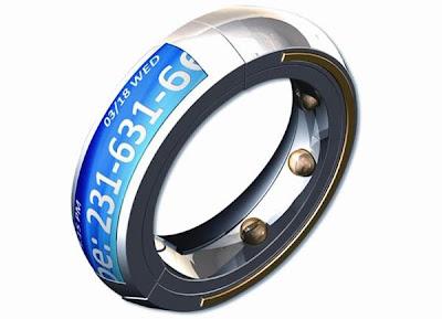 anillo tecnológico creativo y fuera de lo común