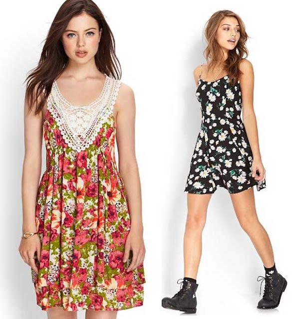 vestido con diseños de flores