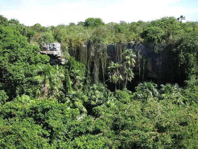 Darby Cave à Barbuda : vue aérienne