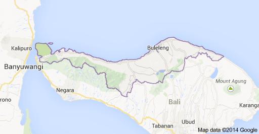 Peta Daerah Kabupaten Buleleng