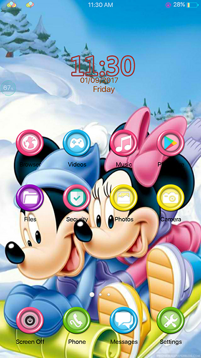 Oppo F3 Theme Mickey Mouse Theme