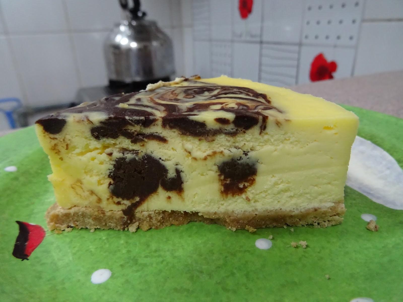 Owenmama's Kitchen: 雲石紋芝士蛋糕