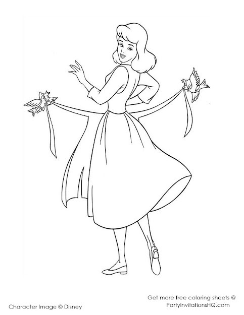 Cinderella Coloring Pages  Cinderella Coloring Sheets