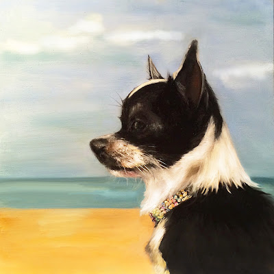 """Bailey"" dog portrait by Pia Ledy"