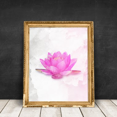 Etsy Lotus Flower Printable via BeSoStyle