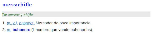 Mercachifle - definición