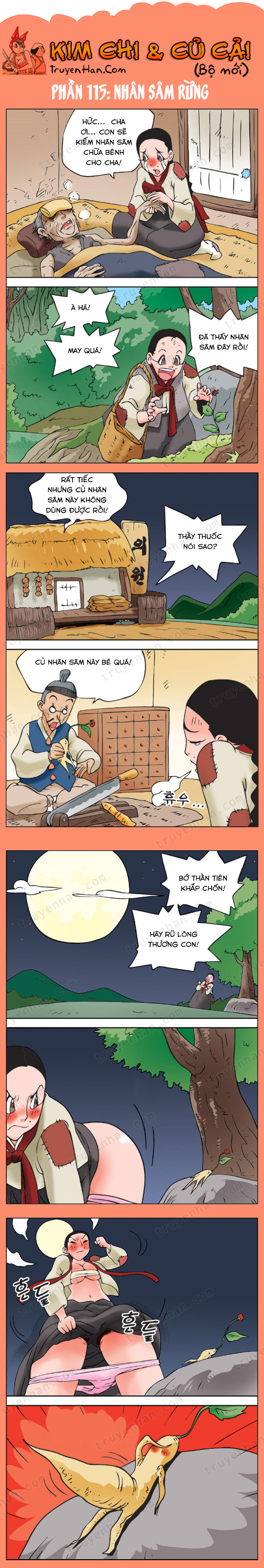 Kim Chi & Củ Cải (bộ mới) phần 115: Nhân sâm rừng