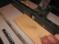 Rounding over the corners of the 1X4