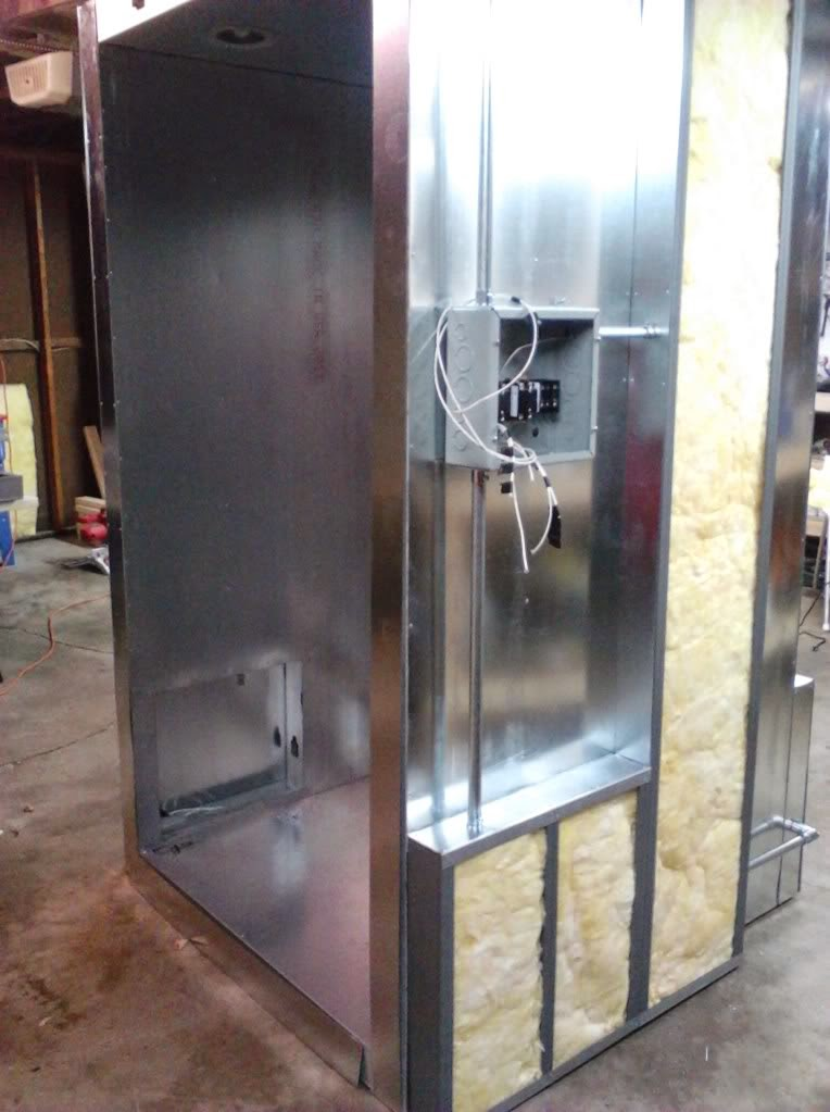 powder coating oven build wiring