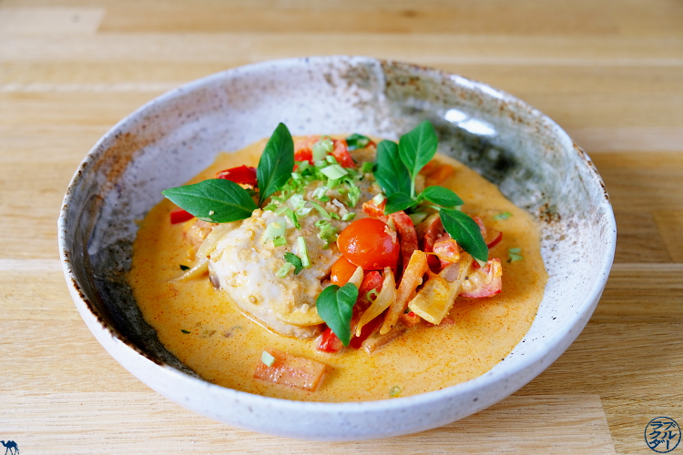 Le Chameau Bleu - Recette de curry de poisson blanc  au lait de coco et citron