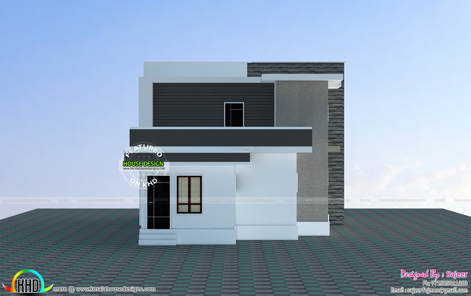 2300 sq ft house all side views kerala home design and for Building houses with side views