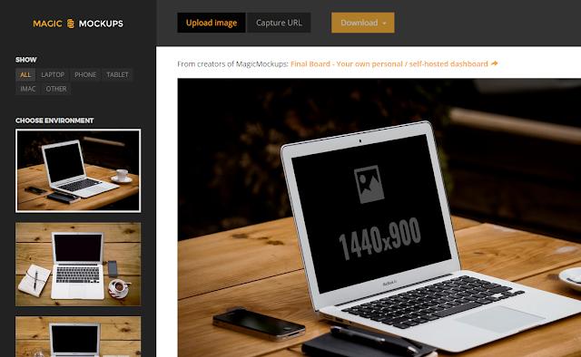Web sitelerin (ekran görüntüleri) mockup görüntüsünü alın