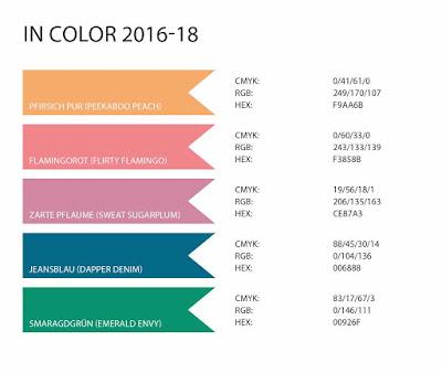 Stampin' Up! rosa Mädchen Kulmbach: Farbwerttabelle 2016 mit RGB, CMYK und HEX-Codes der SU Farben ab 1995