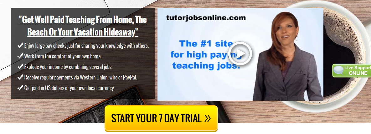"""If you want to enjoy the Good Life: Making money in the comfort of your own home Teaching online,"