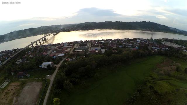 Indahnya Foto Udara Sekitar Jembatan Mahulu Samarinda