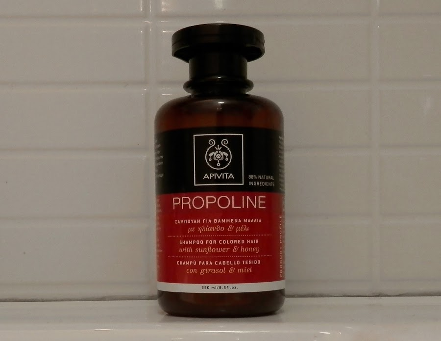 opinión review champu propoline apivita cabello teñido girasol miel