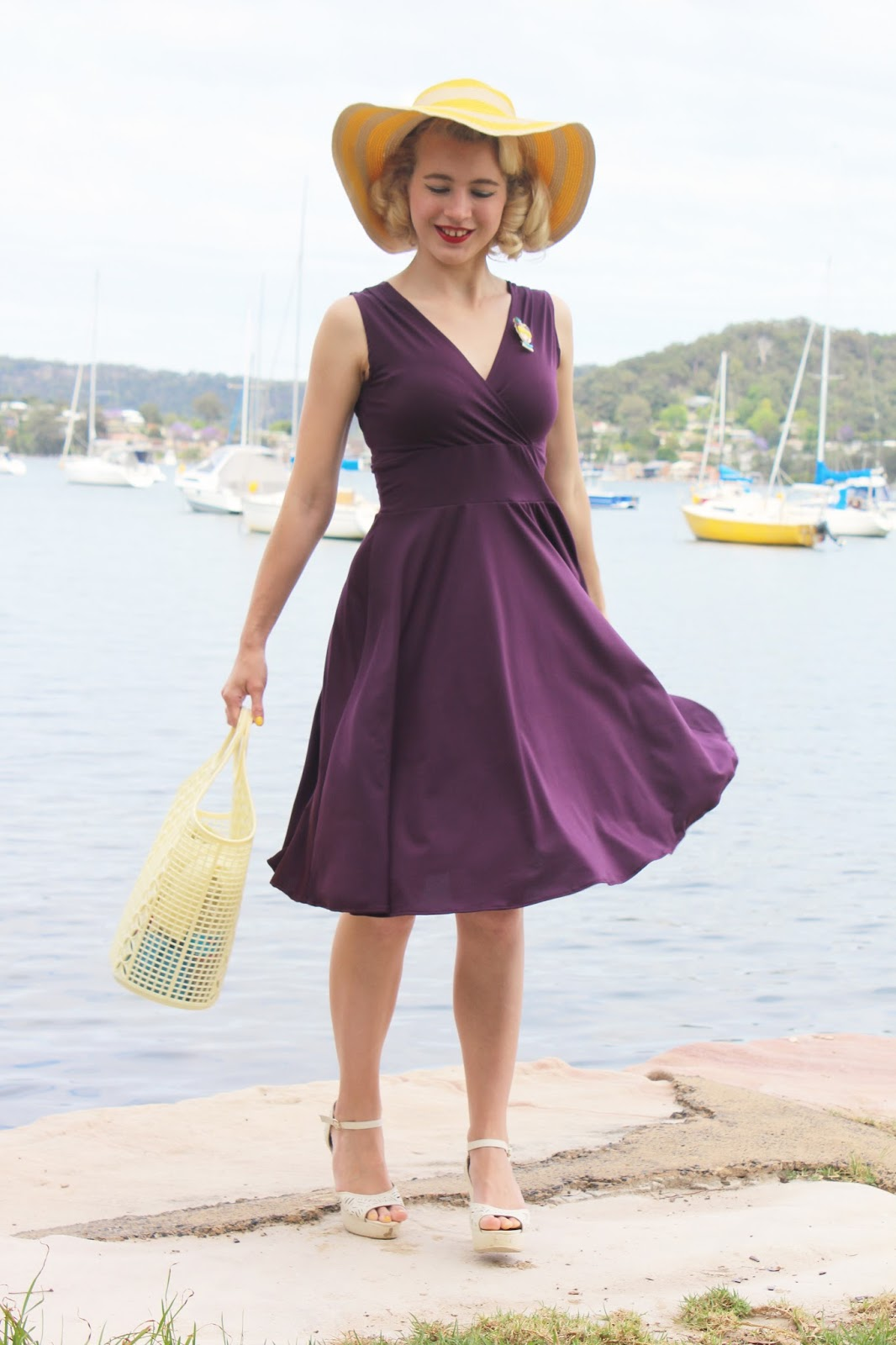 Gracefullyvintage Purple And Yellow Win A Dress