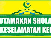 Download Spanduk Utamakan Sholat dan Keselamatan Kerja Format CDR