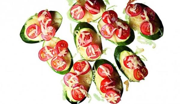 Überbackene Zucchini-Tomaten-Happen