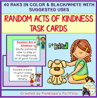 Random Acts of Kindness Character Education - Social Skills Task Cards