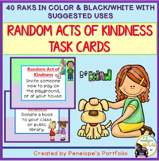 https://www.teacherspayteachers.com/Product/Random-Acts-of-Kindness-Task-Cards-2258127