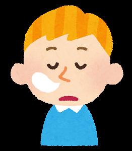 白人の男の子の表情イラスト「居眠り」