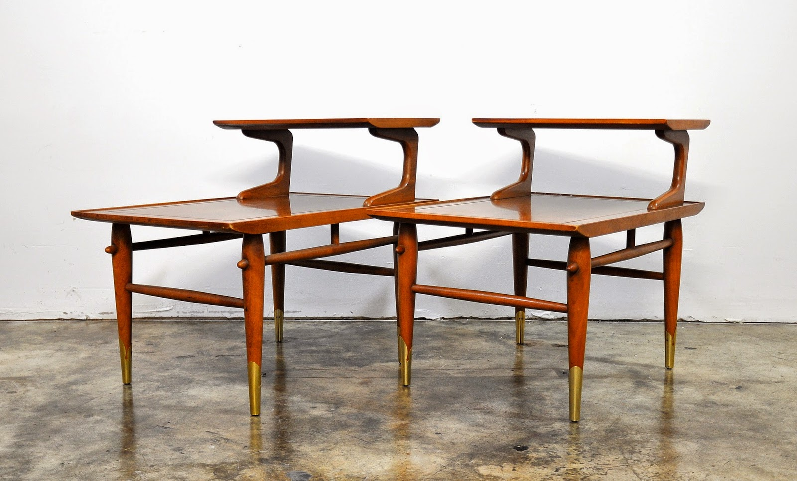 SELECT MODERN: Pair of Lane Step Side or End Tables