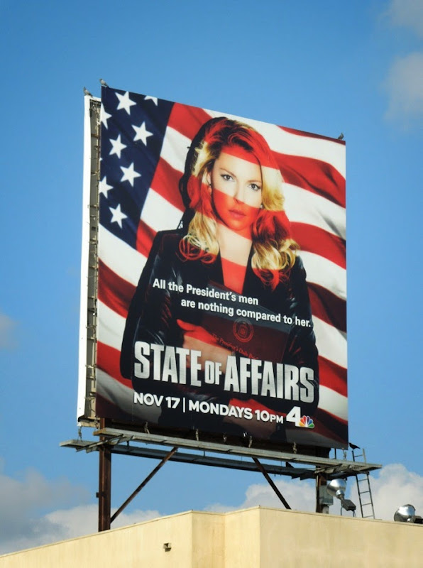 Katherine Heigel State of Affairs season 1 billboard