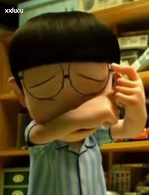gambar nobita menangis sedih