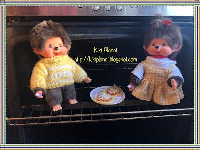 kiki monchhichi cuisine cooking pizza toy life vintage