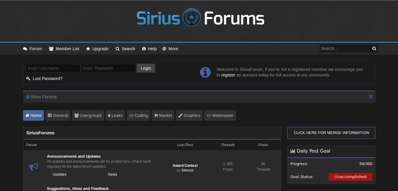 Theme Sirius Forum MyBB 1 8 - Free Theme CC