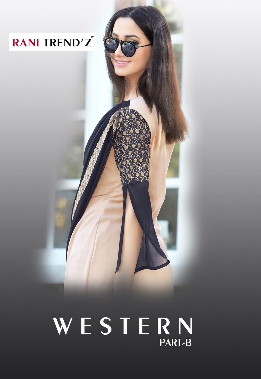 Western part-B By Rani Trendz New Arrival Designer Havy Santoon Silk Kurtis