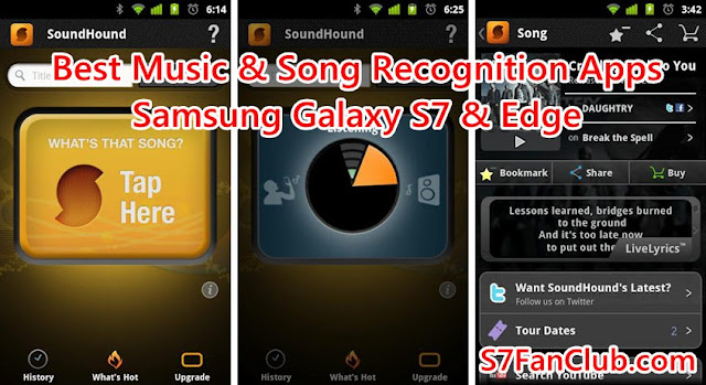 Download 5 Best Galaxy S7 Song & Lyrics Recognition Apps »