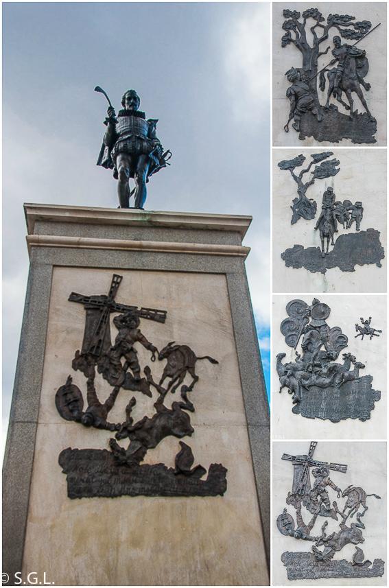 Estatua de miguel de Cervantes en Alcala de Henares