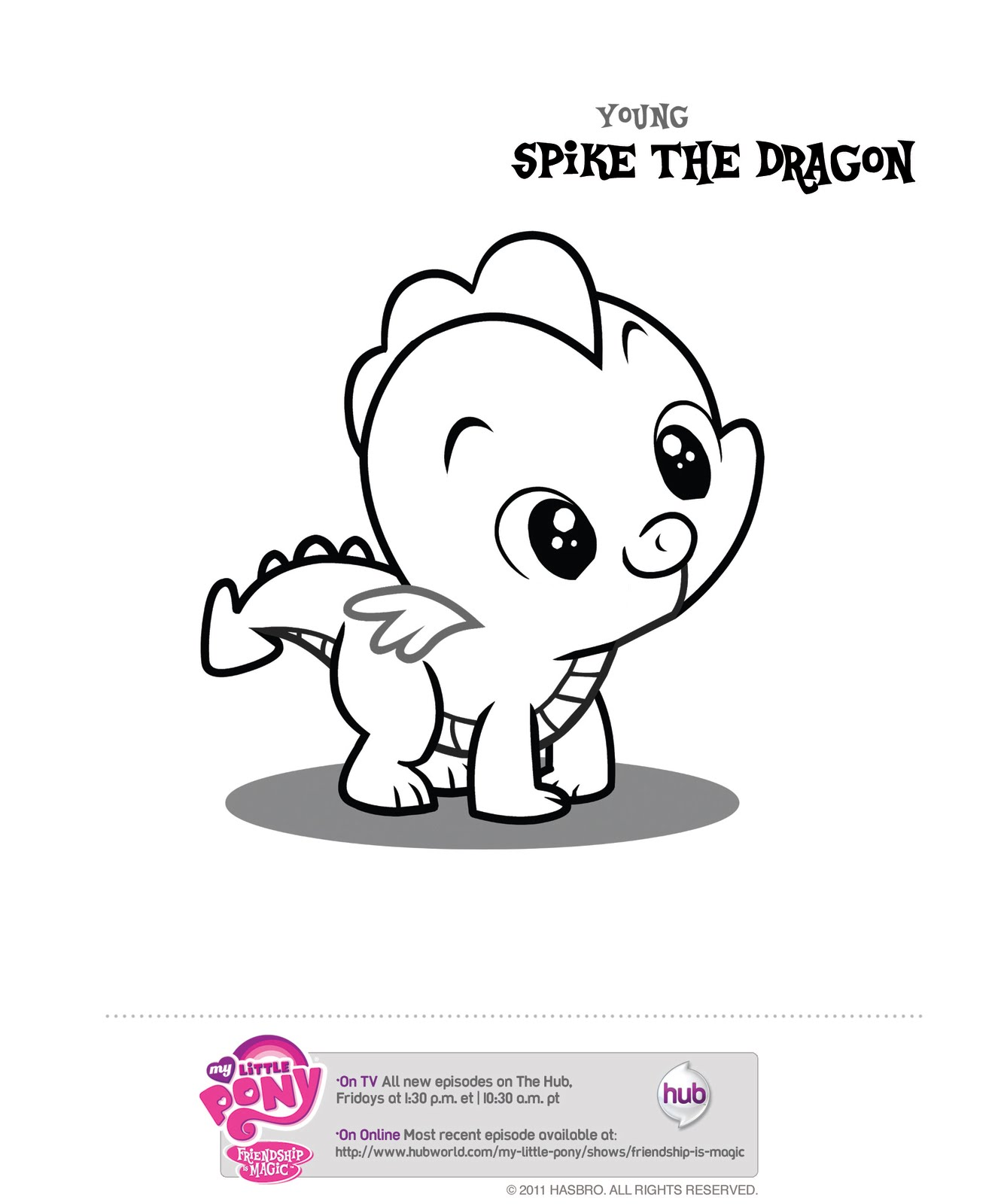 My Little Pony Friendship Is Magic Coloring Pages Spike
